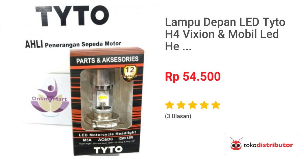 Lampu Depan Led Tyto H4 Vixion  U0026 Mobil Led Hea